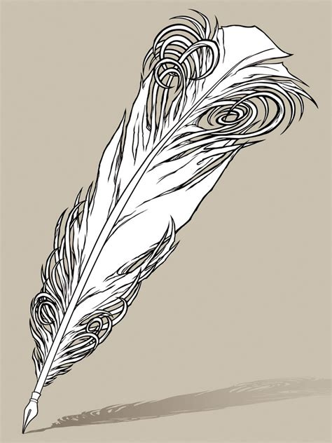 pen tattoos 1 by thetruexivmember on deviantart quill pen tattoo design line work by awolfillustrations on