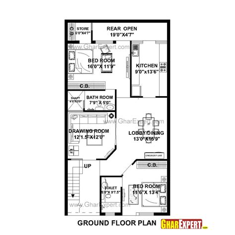 Home Design For 20 X 50 Plot Size by House Plan For 27 By 50 Plot Plot Size 150