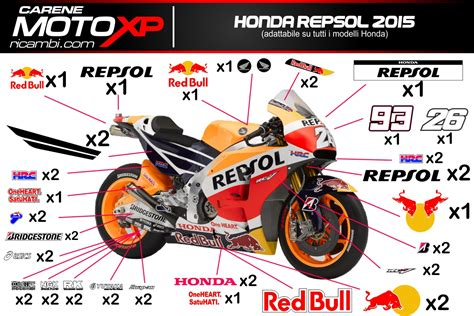 Honda Repsol Aufkleber Set by Grafiken Honda Repsol 2015 Superbike Racing
