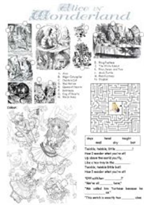 alice in wonderland printable activity sheets alice in wonderland worksheet