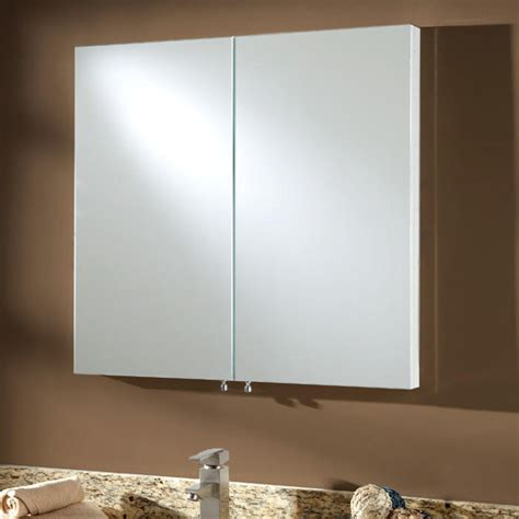albright stainless steel recessed medicine cabinet white