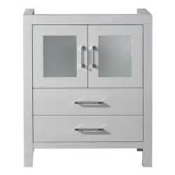 virtu usa 28 inch white single sink cabinet only