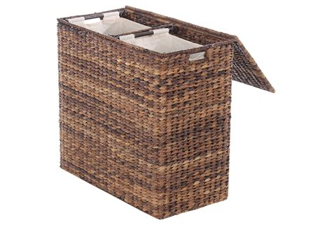 laundry divided divided abaca her espresso laundry from one the