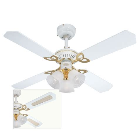 Princess Ceiling Fan by Princess Trio Ceiling Fan With Oak And White Blades