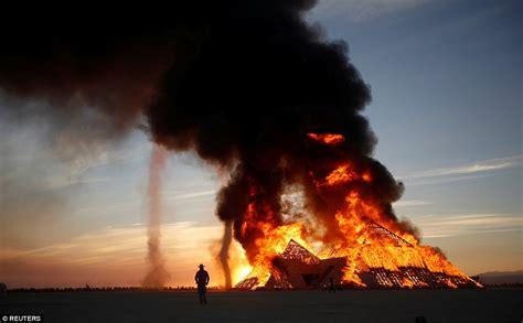 burning festival burning enters days as installations set on