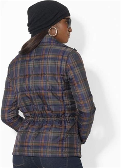 Ralph Plaid Quilted Vest by By Ralph Quilted Plaid Jacket In Multicolor