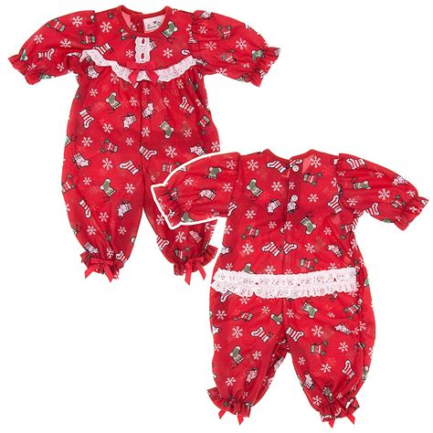 laura dare red christmas stockings one piece pajamas for
