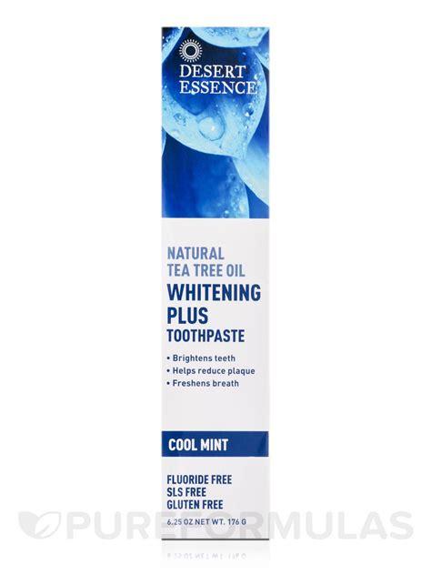 toothpaste whitening toothpaste whitening plus natural tea tree oil 6 25 oz