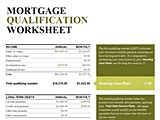 Download Mortgage Qualification Credit Score Criteria Worksheet Calculator Mortgage Qualification Worksheet Template Excel