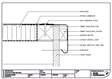 flat roof section drawing fastrackcad hambleside danelaw ltd cad details