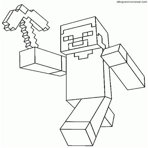 imagenes de minecraft a blanco y negro dibujos sin colorear dibujos de minecraft para colorear