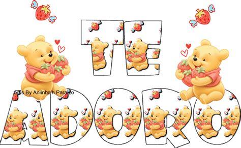 imagenes de winnie pooh diciendo te amo imagen que diga te adoro imagui