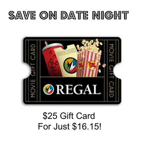 Regal Cinemas Gift Card Online - save on date night 25 regal cinema s gift card for just 16 15