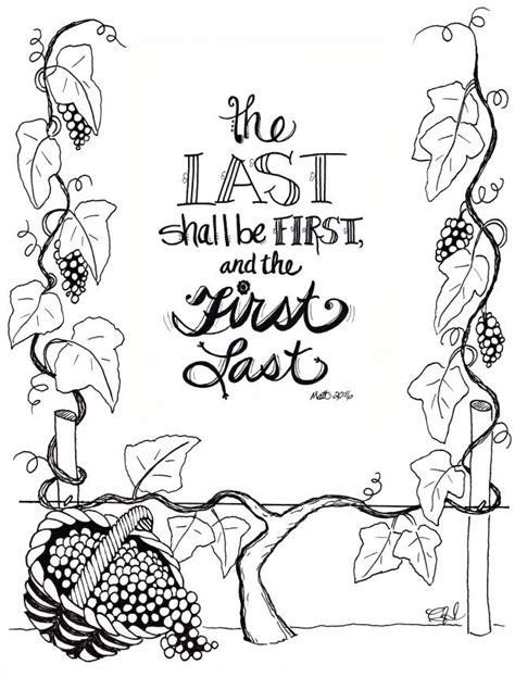 Workers In The Vineyard Coloring Page