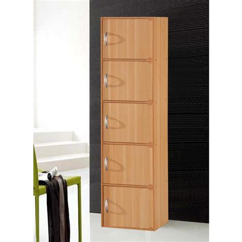 hodedah  shelf    beech bookcase  doors hid