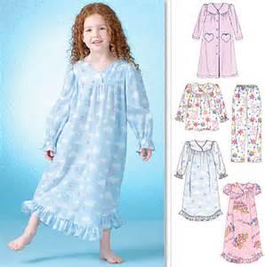 Mccalls Halloween Costume Patterns Easy Girls Sleepwear Sewing Pattern Nightgown Pajamas Robe