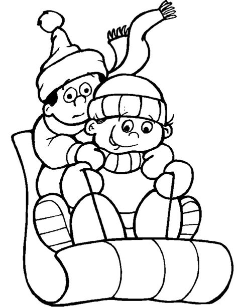 kids cold weather coloring page kids cute coloring pages
