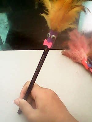 Bulu Ayam Perlusin ruang kreasi thania pensil hias dari bulu