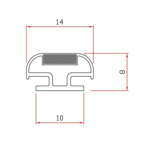 guarnizioni doccia gomma guarnizione magnetica box doccia in gomma ec mag 01 33