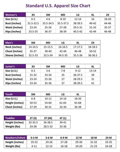 15 Free Size Chart Templates Docx Pdf Ms Word Free Size Chart Template