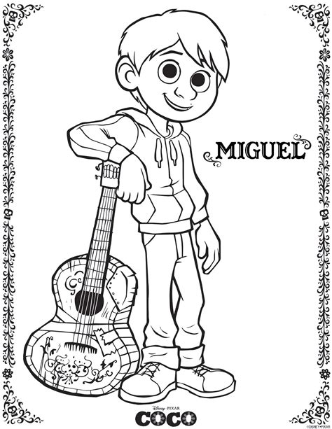 coco coloring book disney pixar coco coloring pages for boys and books be brave keep going free printable coco coloring pages