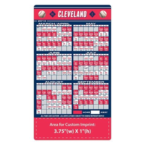 Cleveland Indians Schedule 2018 Printable
