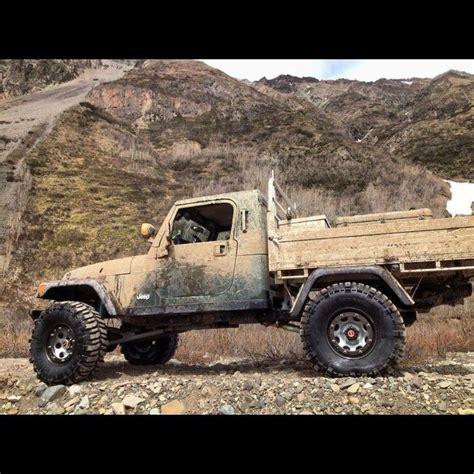 custom jeep tj truck bed jeeps trucks pinterest