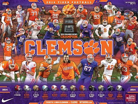 clemson football 2014 schedule posters sports logos chris creamer s