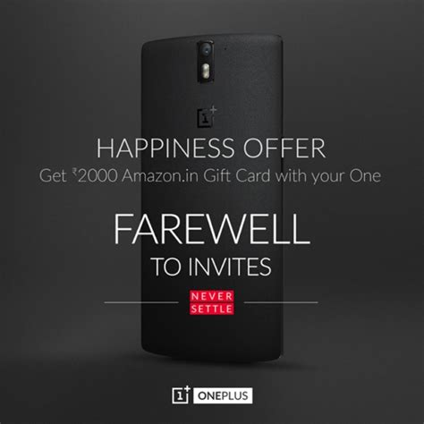 Can You Use The Limited Gift Card At Express - oneplus offering 32 amazon gift card with the one in india gsmarena com news