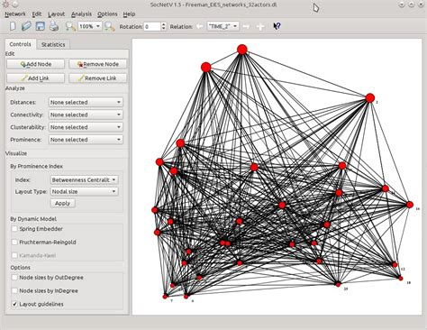 freeman network news social network analysis and visualization software