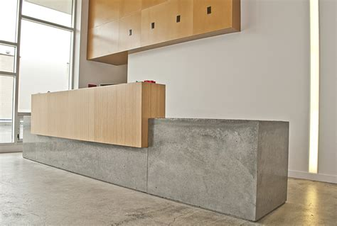 Concrete Reception Desk Desk M Concrete Studios Custom Concrete Countertops Custom Concrete Solutions In The