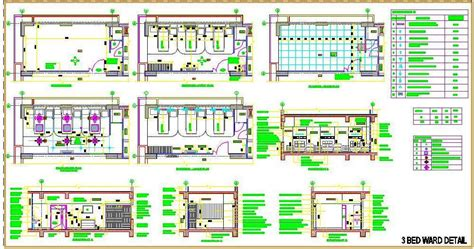 Dining Room Layout by 3 Bed Hospital Ward Room Plan N Design
