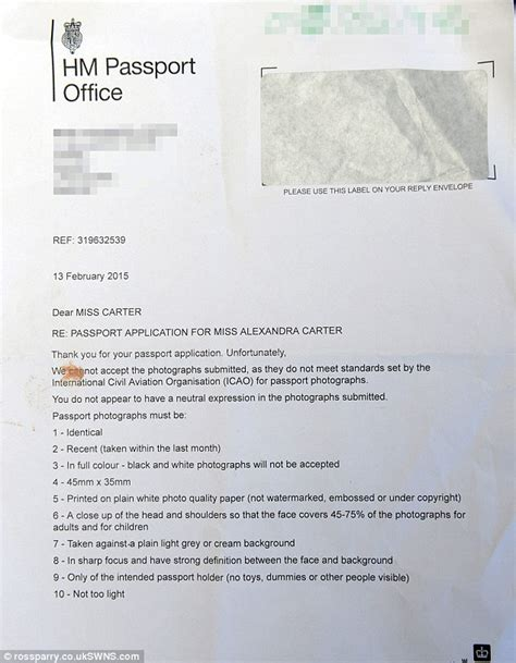 Explanation Letter For Passport Renewal Blind Claims She Was Refused Passport Because Were Not In Focus Daily Mail
