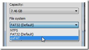 format exfat gparted what file system should i use for my usb drive
