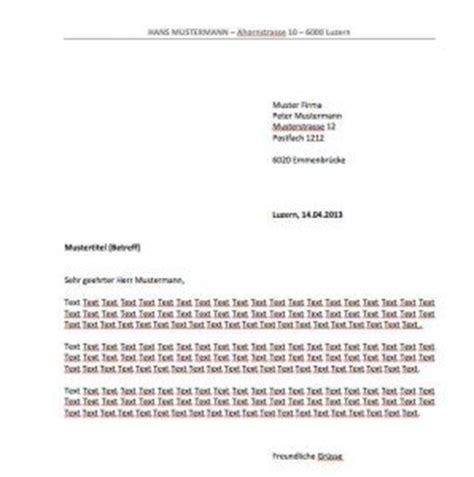 Anschrift Briefvorlage Briefvorlage Schweiz Sichtfenster Links Oder Rechts Muster Und Vorlagen Kostenlos