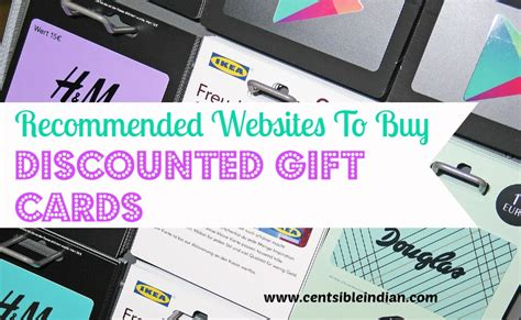 Gift Card Buying Sites - recommended websites to buy discounted gift cards centsible indian