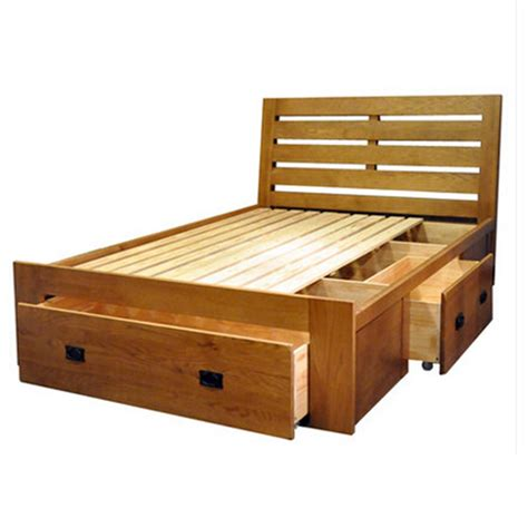 Solid Wood Bed With Drawers by 2017 Huayi Solid Wood Furniture White Oak Bed Box Bed