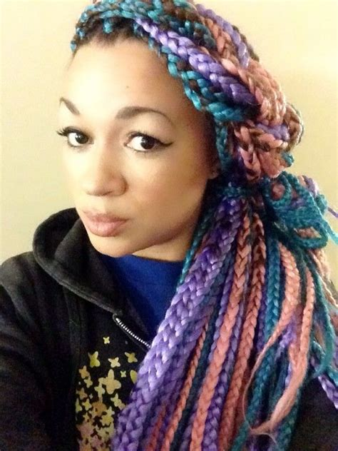 color braids box braids hairstyles hairstyles with box braids
