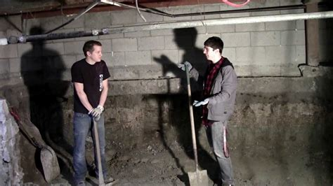 dig basement existing house cost 2013 basement dig out part 1