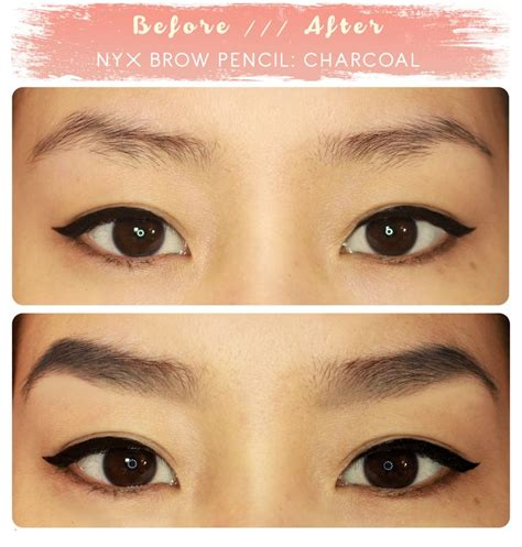 Spesial Dipbrow Pomade Beverly Abh brow before after nyx eyebrow pencil in quot charcoal