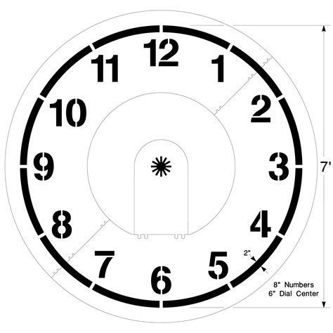 clock templates clock playground stencil large clock template