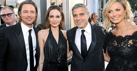 Brad Pitt George Clooney Do Entertainment Weekly by Keibler Pose For Awkward Photo With
