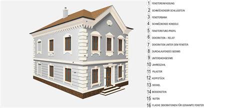 fassaden gesimse zertifizierte systeml 246 sung f 252 r dekorative fassaden