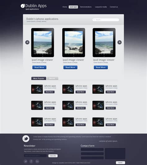 ipad page layout design app professional website design template for ipad and iphone
