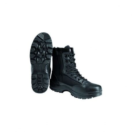 Mofeat New Boot mil tec leather tactical boots black softair