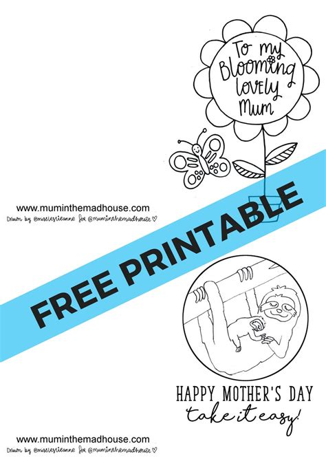 printable mothers day cards to color free printable s day cards to colour in the