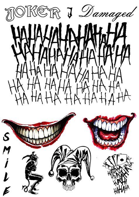 joker tattoo print the joker temporary tattoos suicide squad costume
