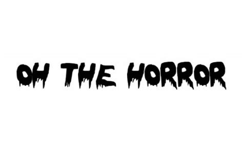 black and white oh the horror 35 best fonts to free designdune