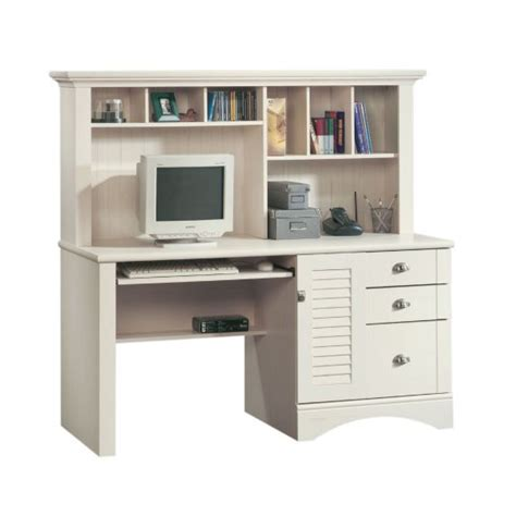 sauder harbor view computer desk with hutch 158034