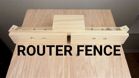 router table fence youtube